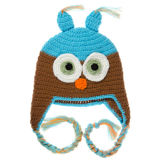 juDanzy Owl Hat Turquoise & Brown