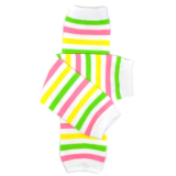 juDanzy Leg Warmers Spring Stripe