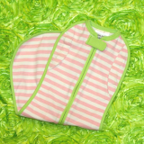 Vented Convertible Preppy Pink Stripes