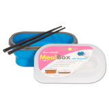 Silicone Collapsible Meal.b w/Chopsticks