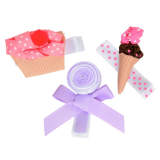 juDanzy Hair Clip Cupcake, Lolli, Ice.Crm