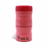 Zoli Double Tier Food Jar Pink 240ml